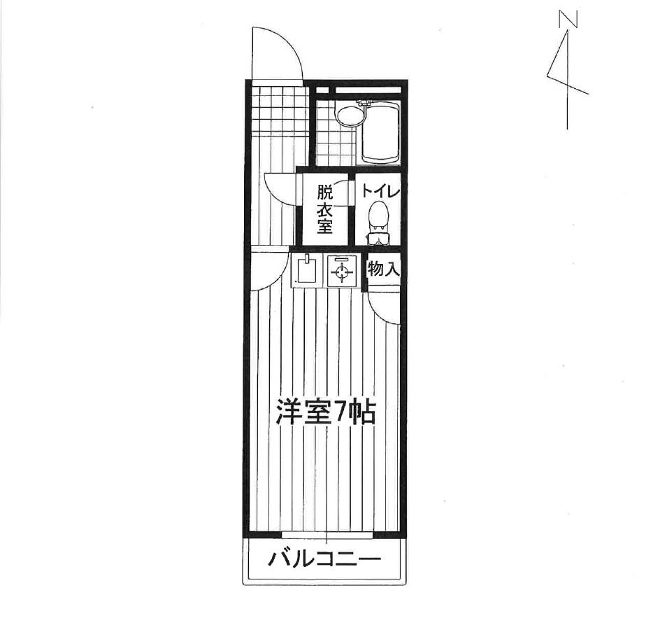 サンシティ熊本駅春日405号室間取り